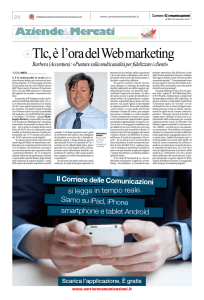 Tlc, è l`ora del Web marketing