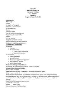 Programma di italiano AS 2014/15 Classe IB