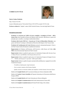 Curriculum Vitae IT - DMI - Università degli studi di Trieste