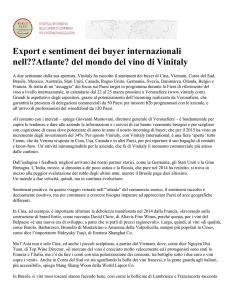 Export e sentiment dei buyer internazionali nell