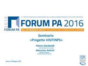 Progetto VISITINPS - Forges
