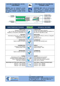 cavi per tachimetrica in pvc posa mobile pvc cables for tachymetric