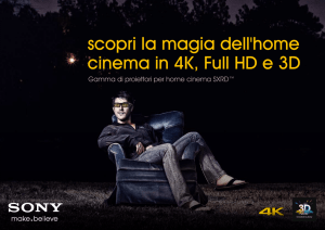 scopri la magia dell`home cinema in 4K, Full HD e 3D