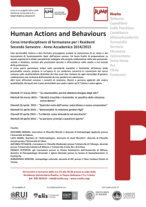 Human Actions and Behaviours - Residenza Universitaria Rivalto