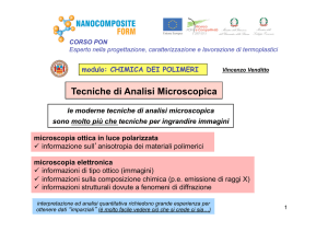 microscopia ottica - Polymer Technology Group