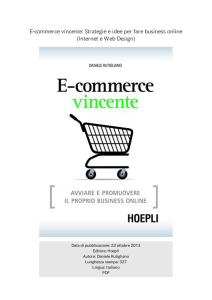 E-commerce vincente: Strategie e idee per fare business online