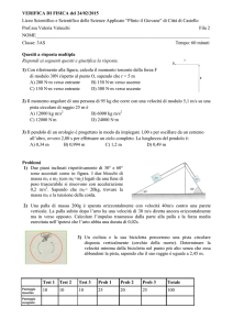 VERIFICA DI FISICA del 24/02/2015 Liceo Scientifico e Scientifico