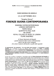 FIRENZE SUONA CONTEMPORANEA