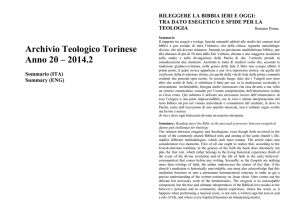 Abstracts - Facoltà Teologica Torino