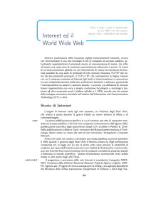Internet ed il World Wide Web - Dipartimento di Matematica e