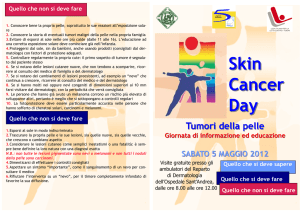 Skin Cancer Day - ASL 5 Spezzino
