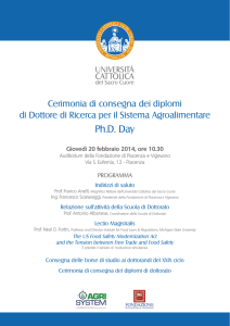 Ph.D. Day - Università Cattolica del Sacro Cuore