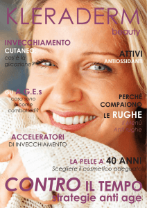 kleraderm magazine, strategie anti age