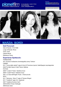 marzia bordi - Planet Film