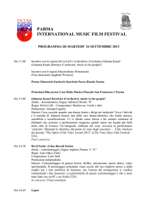 Programma Parma International Music Film