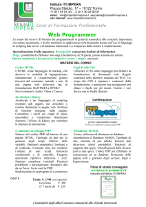 Web Developer - Istituto iti impera