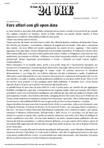 Fare affari con gli open data - Centro Nexa