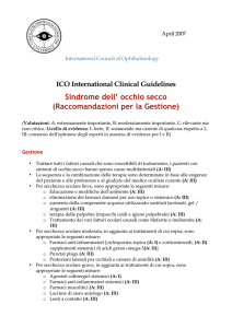 Sindrome dell` occhio secco - International Council of Ophthalmology