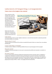 Laboratorio di Songwriting e arrangiamento