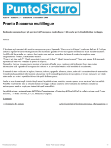 Stampa - Pronto Soccorso multilingue