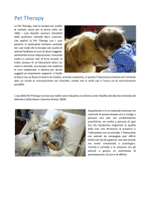 Pet Therapy - Veterinario - Assisi - Clinica Veterinaria San Francesco