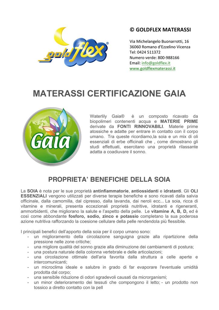 Goldflex Materassi Romano D Ezzelino.Materassi Online Gaia