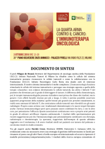 DOCUMENTO DI SINTESI 3 ott Milano
