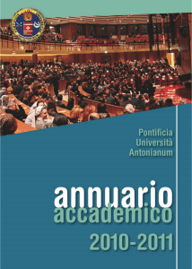 Annuario accademico 2010-2011 - Pontificia Università Antonianum
