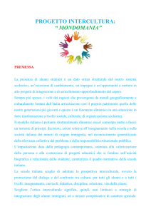 "progetto intercultura: "" mondomania"""