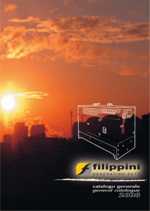 Catalog 2008 - FILIPPINI Generating Sets