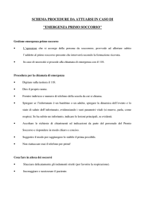 SCHEMA PROCEDURE DA ATTUARSI IN CASO DI
