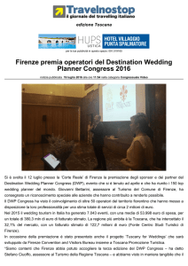 Firenze premia operatori del Destination Wedding Planner