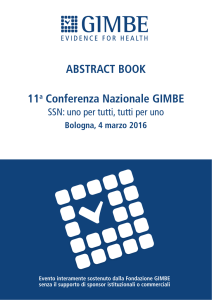 ABSTRACT BOOK 11a Conferenza Nazionale GIMBE