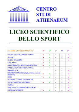 liceo scientifico sportivo