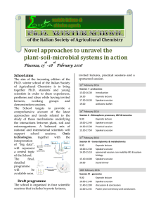 Novel approaches to unravel the plant-soil
