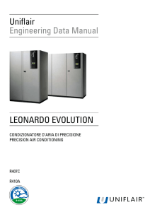 LEONARDO EVOLUTION Uniflair Engineering Data Manual
