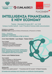 INTELLIGENZA FINANZIARIA E NEW ECONOMY