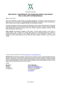 wm capital: partnership con franchise world link group per lo