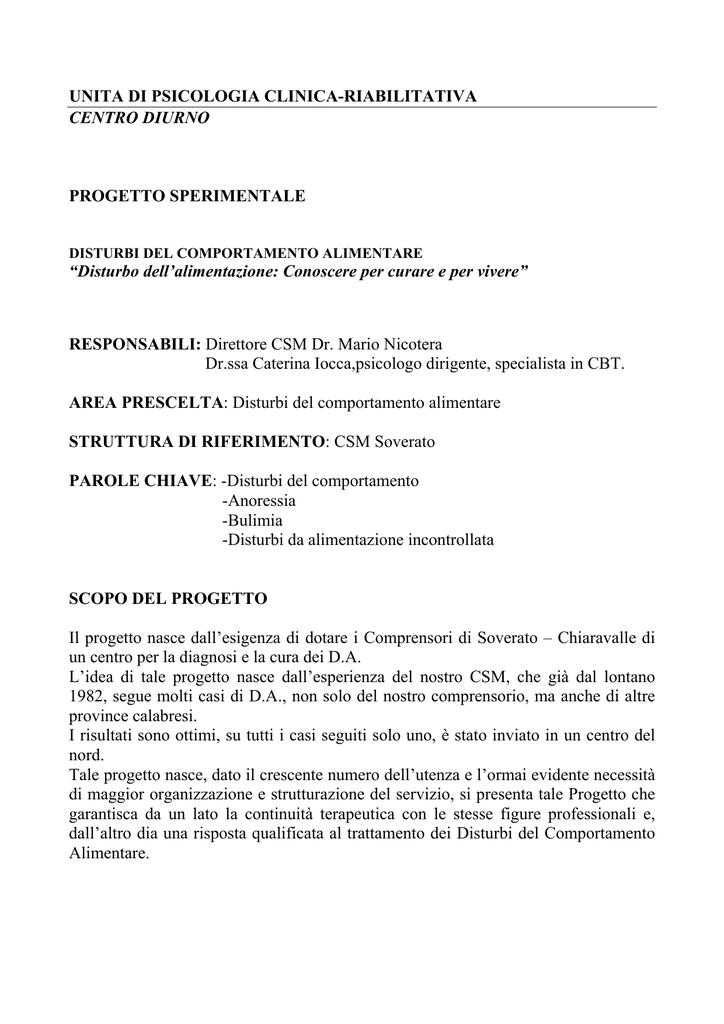 UNITA DI PSICOLOGIA CLINICA-RIABILITATIVA CENTRO