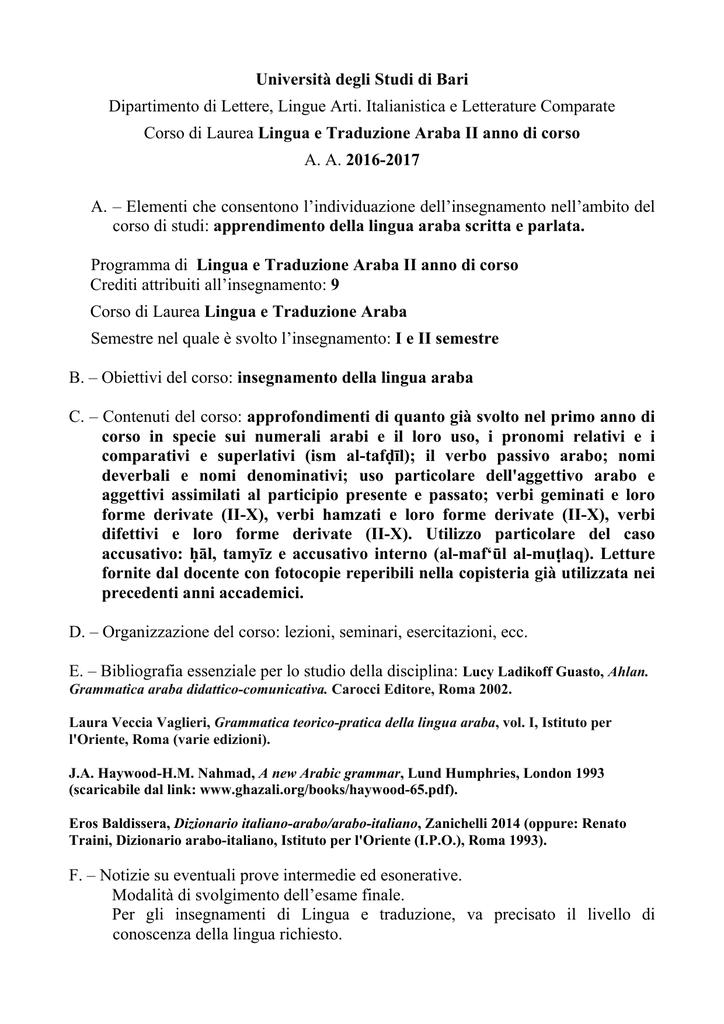 Dizionario Arabo Italiano Pdf