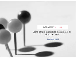 Appunti - LucaGiacconi.it Lab