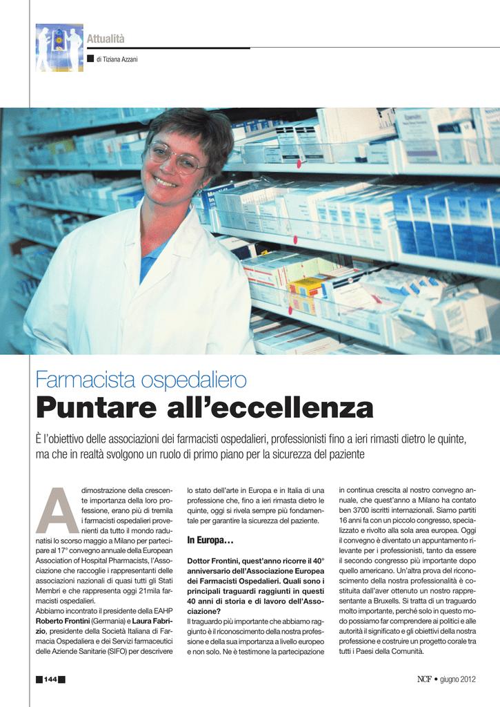 Farmacista Ospedaliero Ruolo.Puntare All Eccellenza European Association Of Hospital