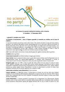 no science? no party! cocktail di scienza, arte e musica 31 ottobre