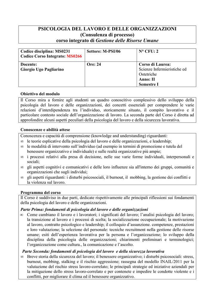 lavoro studente psicologia