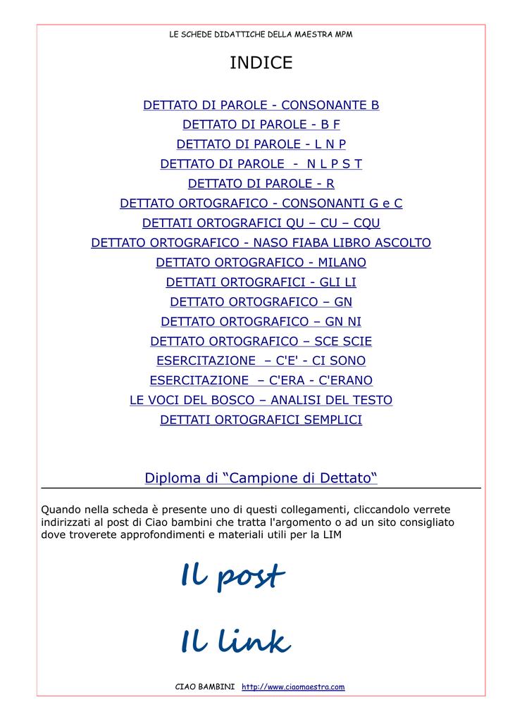 Il Post Il Link Ciaomaestra It