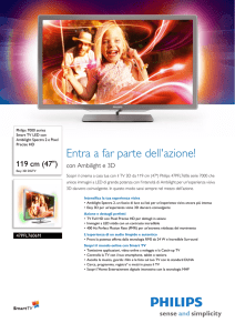47PFL7606M/08 Philips Smart TV LED con Ambilight