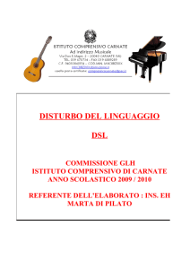 disturbo specifico del linguaggio dsl