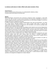 Abstract dell`intervento del Prof. Claudio Mencacci