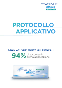 protocollo applicativo - Johnson and Johnson Vision Care