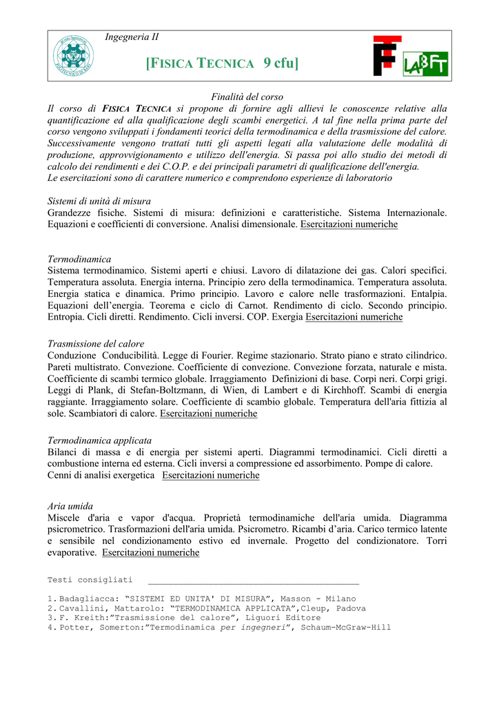 Termodinamica Applicata Pdf